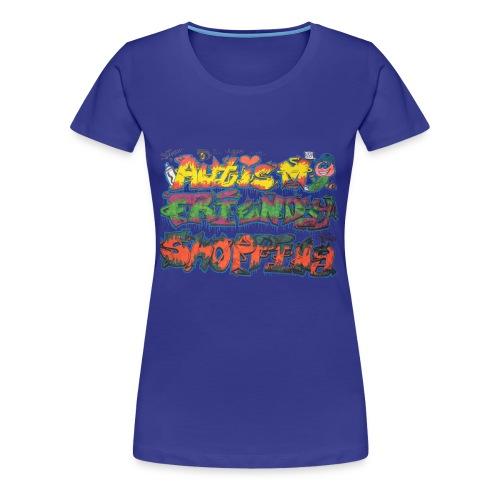 Autism Friendly Shopping Graffiti Style - Women's Premium T-Shirt