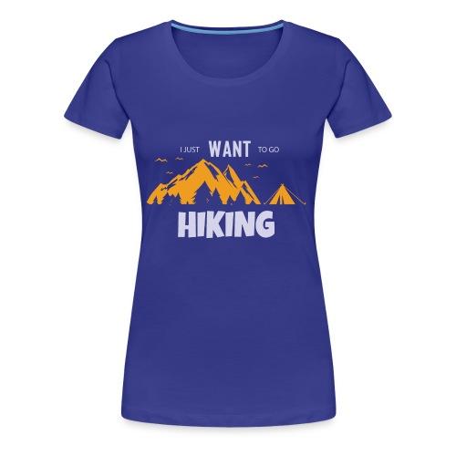 Wandern Berge Zelt Wald Natur Entspannung Geschenk - Frauen Premium T-Shirt
