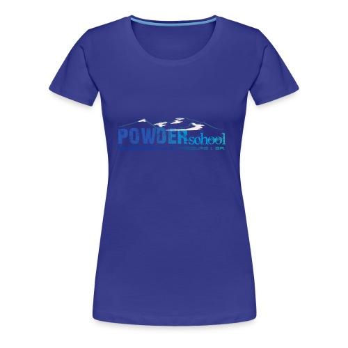POWDERschool T-Shirt blau - Frauen Premium T-Shirt