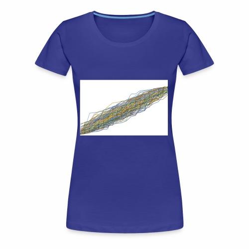Line Chart - Vrouwen Premium T-shirt