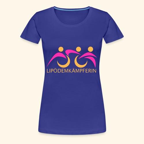 Logo Triathlon Geld - Frauen Premium T-Shirt