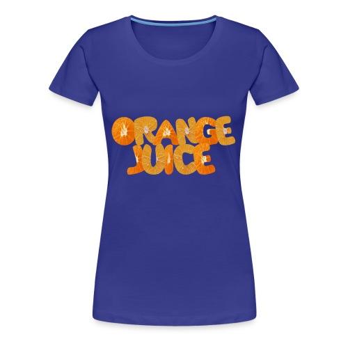 Orangene Orange - Frauen Premium T-Shirt