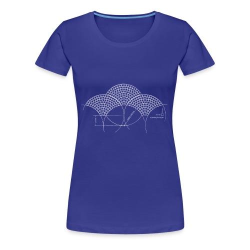 European Fan White - Vrouwen Premium T-shirt