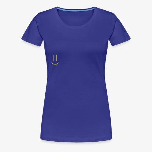 Gold Smiley Face - Women's Premium T-Shirt