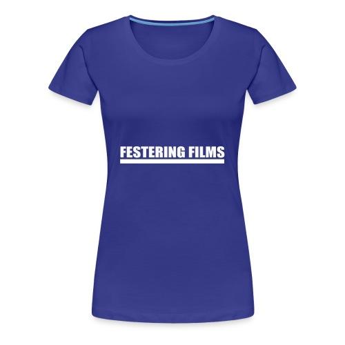 Logo de Festering Films (Blanc) - T-shirt Premium Femme
