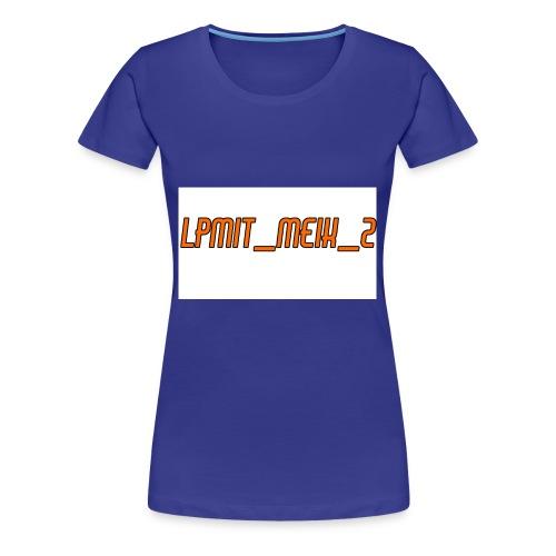 LPMIT_Meik_2 Schriftzug Orange - Frauen Premium T-Shirt