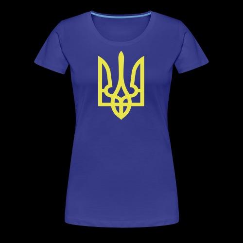 Ukraine Wappen Trident - Frauen Premium T-Shirt