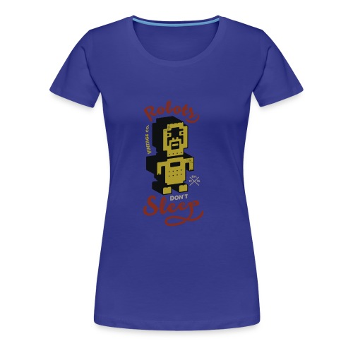 Vintage Robots - Camiseta premium mujer