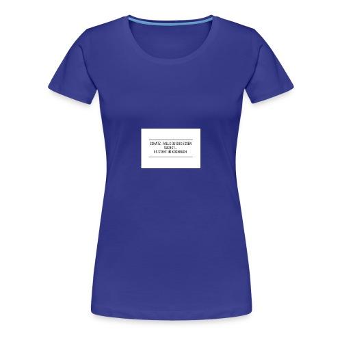 Schatz falls du das Essen suchst es steht im ko - Frauen Premium T-Shirt