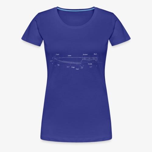 Cooks Knife Blueprint - Women's Premium T-Shirt