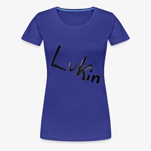 Lukin i sort - Dame premium T-shirt