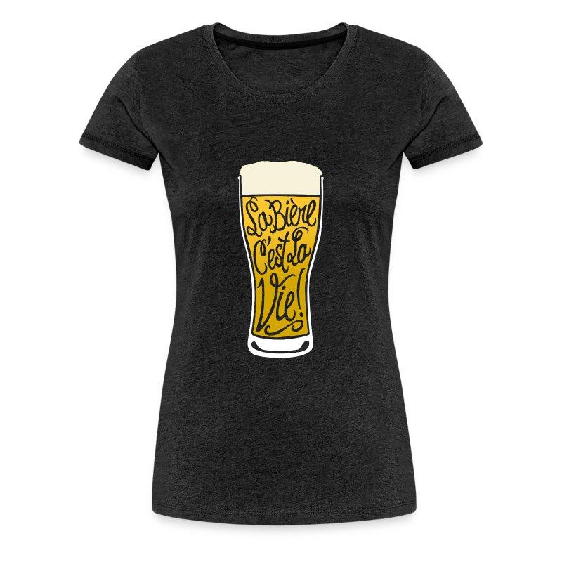 tee-shirt la bière c'est la vie design vintage