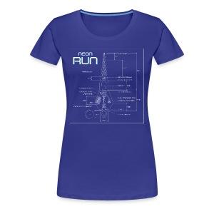 NeonRun - Vrouwen Premium T-shirt