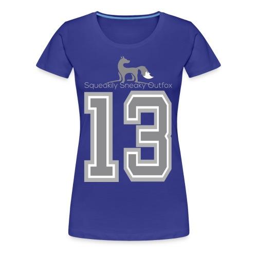 Grey sneaky fox - Dame premium T-shirt