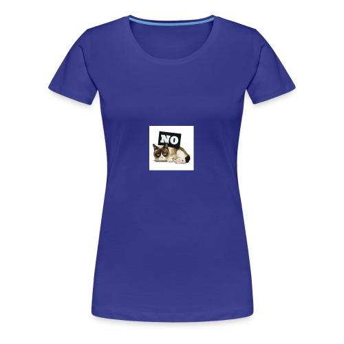 Crumpy Cat - Frauen Premium T-Shirt