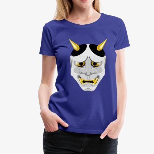 Demon Mask White - Women's Premium T-Shirt