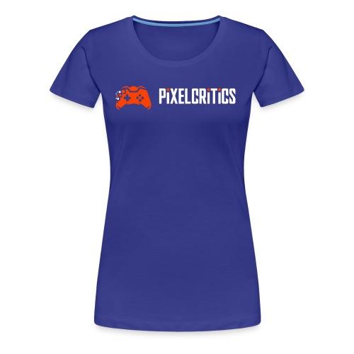 Pixelcritics Logo Schrift Links - Frauen Premium T-Shirt