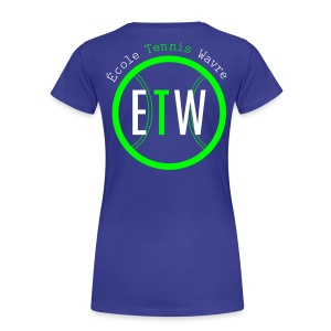 logo rond tennis vert - T-shirt Premium Femme