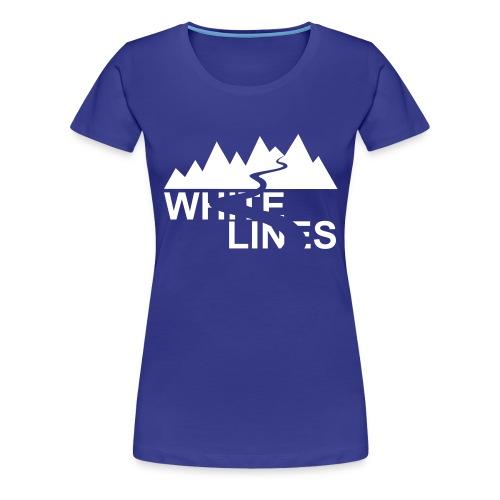 White Lines v3 - Frauen Premium T-Shirt