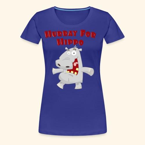 Toddlers & Kids Happy Hippo T Shirt - Women's Premium T-Shirt