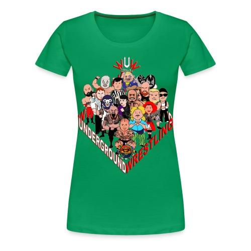 comics-wrestler - Frauen Premium T-Shirt