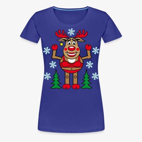 48 Madame Rudolphine Xmas - Frauen Premium T-Shirt