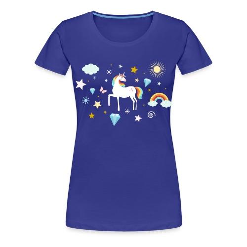 Einhorn Traumwelt Chaos Rainbow Unicorn Sterne - Frauen Premium T-Shirt