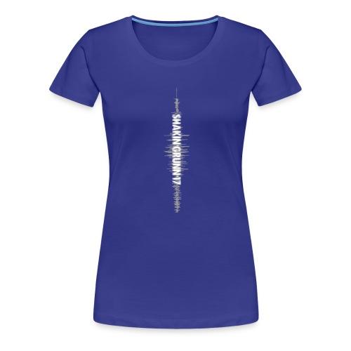ShakinGrunn mouwlogo - Vrouwen Premium T-shirt