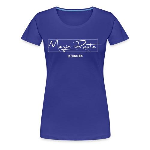 Magic Route Logo weiß - Frauen Premium T-Shirt