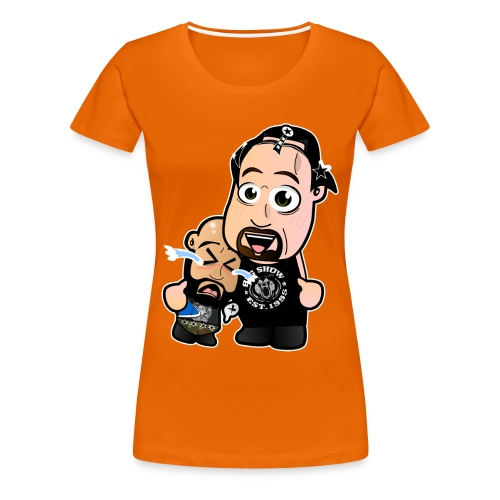 Chibi Punk SES and Big Show - Women's Premium T-Shirt
