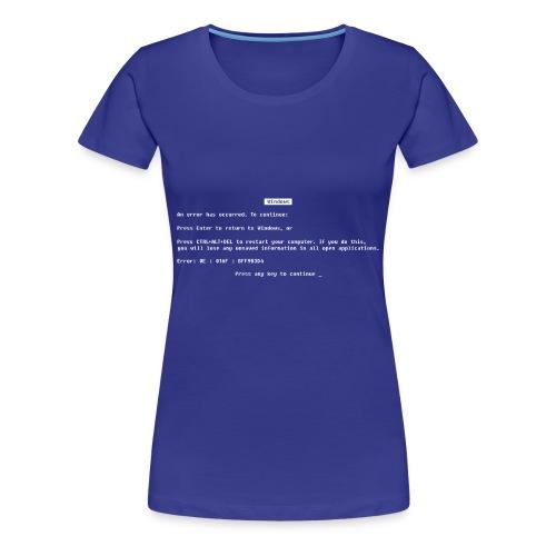 Blue screen of death - Women's Premium T-Shirt