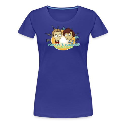 skjuter saker logga png - Premium-T-shirt dam