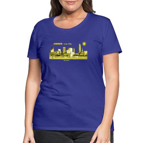 Cleveland Skyline Summer - Frauen Premium T-Shirt