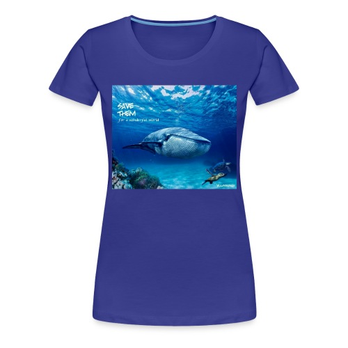 SAVE THEM fww sea - Camiseta premium mujer
