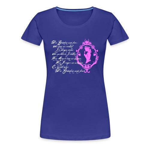 Gedanken weiß pink - Frauen Premium T-Shirt