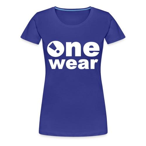 one wear classic logo - Frauen Premium T-Shirt