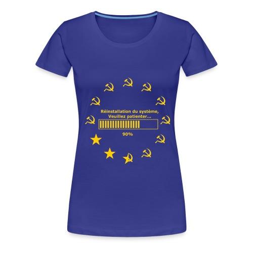 T-SHIRT homme près du corps réinitialisation fau - T-shirt Premium Femme