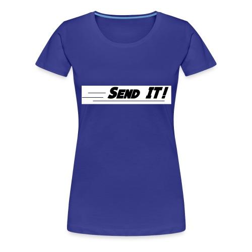 send it logo white - Women's Premium T-Shirt