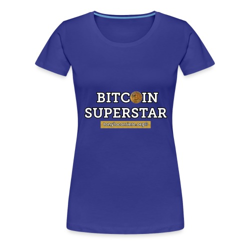 bitcoin superstar - Maglietta Premium da donna