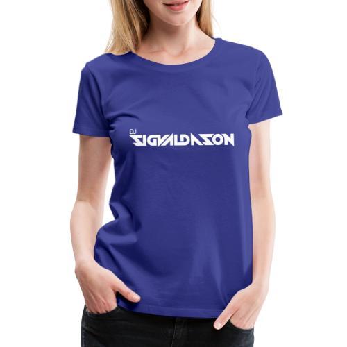 DJ logo hvid - Dame premium T-shirt