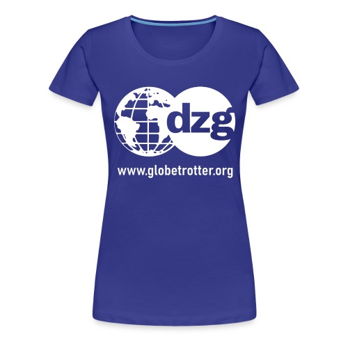 dzg logo Text white - Frauen Premium T-Shirt