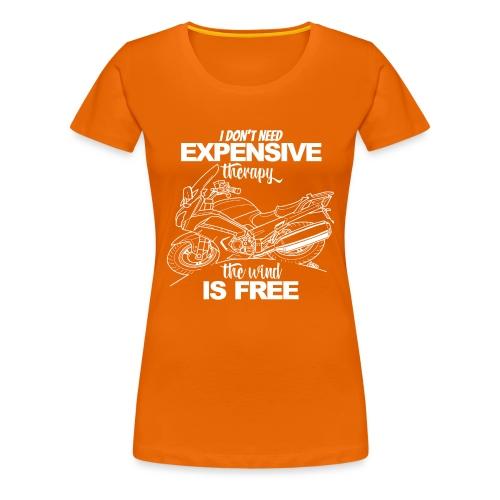 0881 FJR wind is free - Vrouwen Premium T-shirt