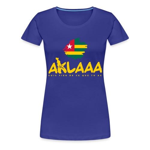 Aklaaa - Togo - Jaune - T-shirt Premium Femme