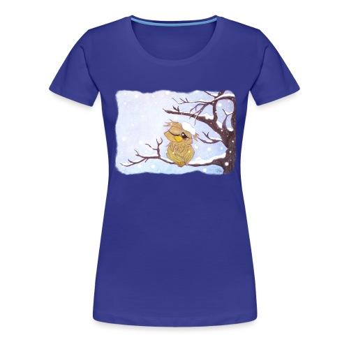 Kauz im Schnee - Frauen Premium T-Shirt