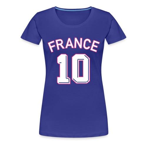 Maillot numéro 10 FRANCE - T-shirt Premium Femme