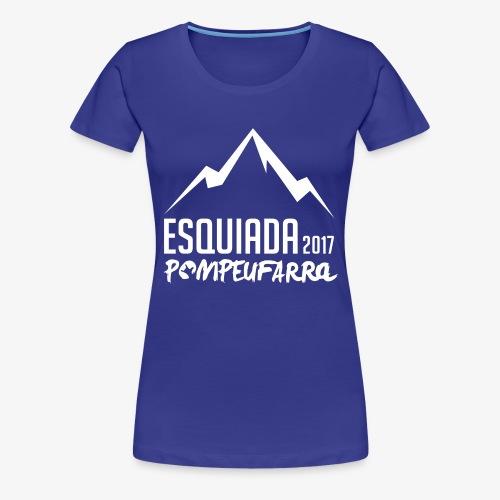 Esquiada Pompeufarra 2017 white - Camiseta premium mujer