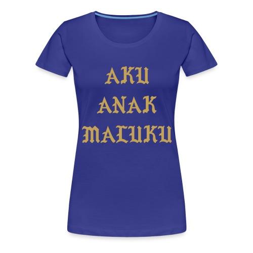 Aku Anak Maluku goud png - Vrouwen Premium T-shirt