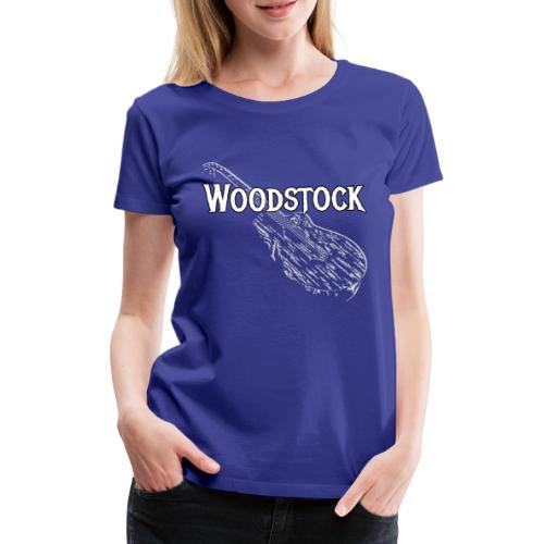 Woodstock Event Gitarre Shirt Geschenk - Frauen Premium T-Shirt