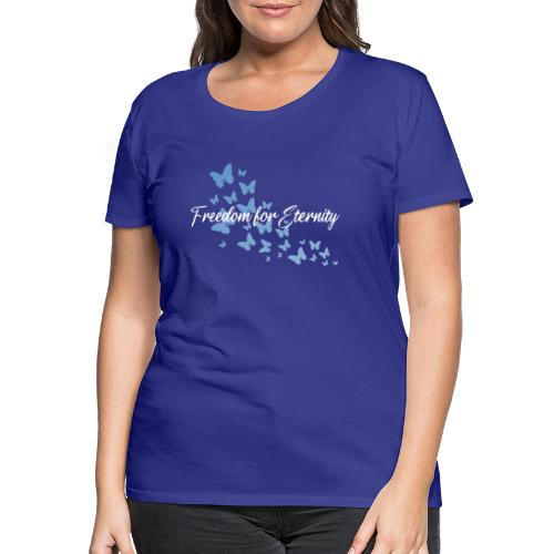 shirt blau text weiss - Frauen Premium T-Shirt