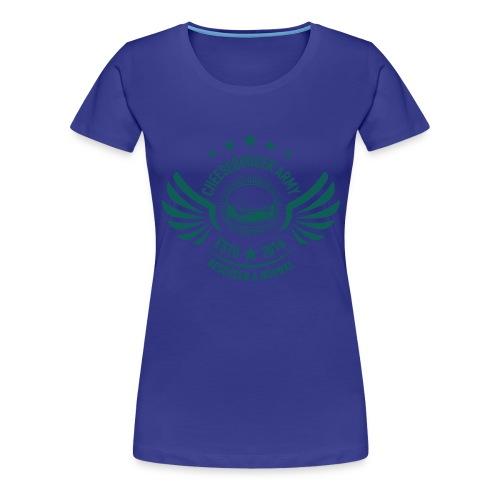 The official Cheeseburger Army logo - Premium T-skjorte for kvinner